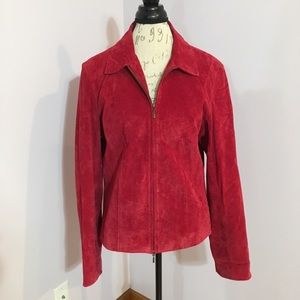 Coldwater Creek Red Suede Jacket